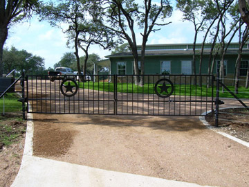 Custom Iron Driveway Gates Canyon Lake Texas San Antonio
