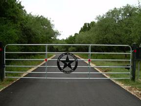 Custom Iron Driveway Gates Texas Solar Automatic Gate